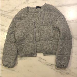 Cozy Grey Bomber Style Jacket